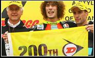200e overwinning voor Dunlop in 250cc!